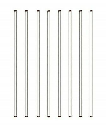 """Burry Life Science Stick 12"""" Length Glass Stir Rod with Both Ends Round Lab"""