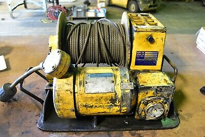 "3/4 HP 3 Phase 230/460 Electric Winch 1/8"" Cable"