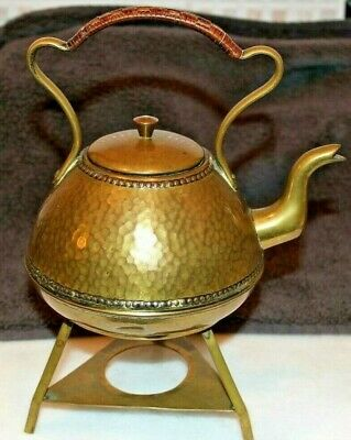 Arts & Crafts Planished Brass Kettle & Stand  By H. Loveridge & Co c1886-1900