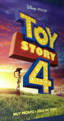 Toy Story 4 POSTER 2 Sided ORIGINAL ( Spanish Model ) Rare / Tom Hanks / Disney