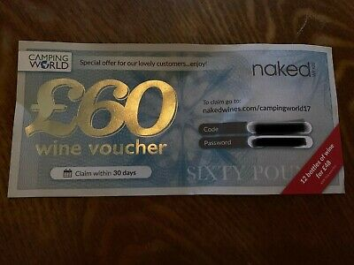 £60 Naked Wine Voucher, expiring on 29th June. No Sign Up required.