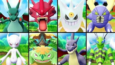 Pokemon Let's Go Pikachu & Eevee All 15 Shiny Pre-Mega Evolution 6IV Max AV