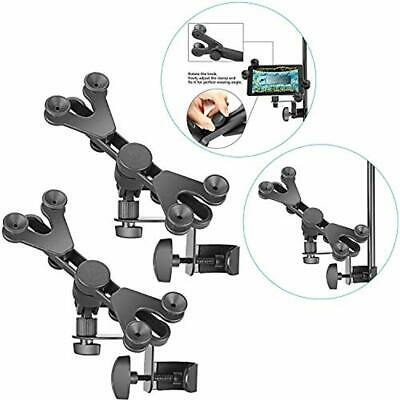 Neewer 2-Pack Extendable Tablet Holders with Music Microphone Stand Clamp, 360 D