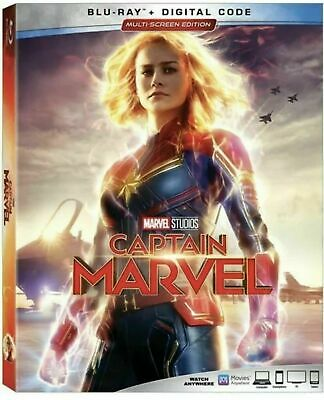 Captain Marvel (Blu Ray + Digital Code) Brand New Sealed with Slipcover