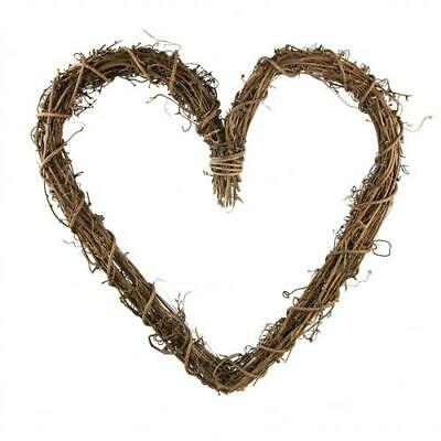 Natural Thick Grapevine Wreath Hoop Heart - 30cm Large
