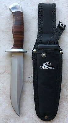MOSSY OAK Bowie Knife Fixed Blade Hunting Knive with Leather Handle/.2.31