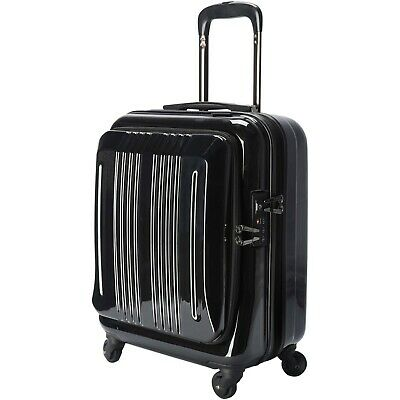 18 inch Business Wheels/Rolling Carry-On, Black Luggage Travel Bag TSA Lock