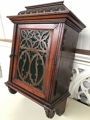 SALE! Stunning Antique Gothic/Renaissance Style Medicine/apothecary Wall Cabinet