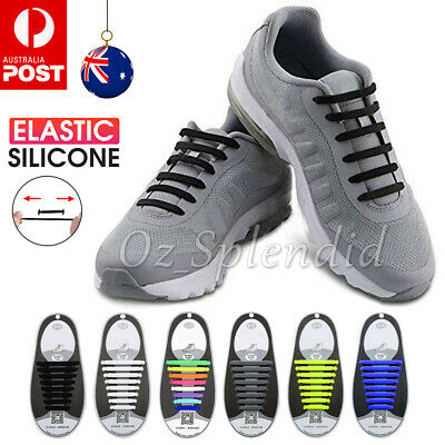 Easy Lazy No Tie Elastic Silicone Shoe Laces Cool Guy Shoelaces Kids Unisex