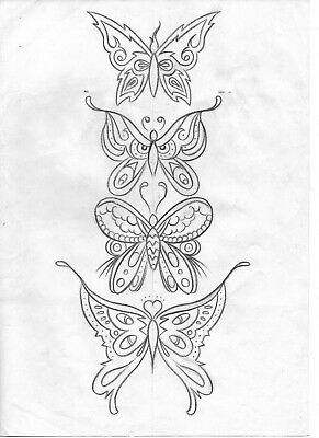 101 BUTTERFLIES Vol.1 TATTOO Book FLASH art Nathan Parrish insects bugs classic