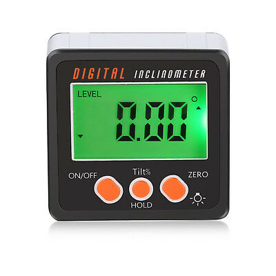 Digital Inclinometer Magnetic Angle Gage Level / Protractor / Bevel Gauge 4x90°
