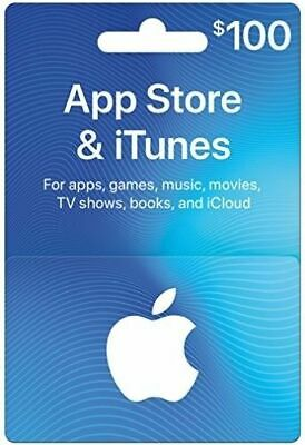 $100 Apple App Store and iTunes Gift Card  -- Last one