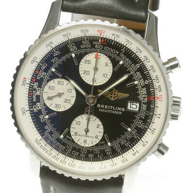 BREITLING Old Navitimer A13324 Chronograph Automatic Leather Men's Watch_478852