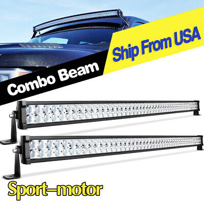 2PCS LED Light Bars Curved 50'' inch 700W Offroad Combo Driving Truck for Jeep