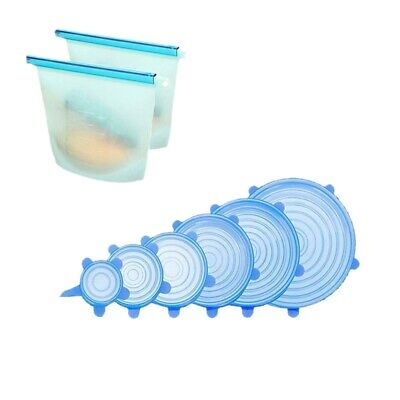 Silicone Stretch Lids,Various Sizes Reuseable Food Storage Covers for Bowl, G6Z4
