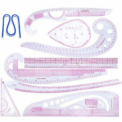 9pcs Sewing French Curve Cutting Ruler Measure Dressmaking Tailor Drawing Tools