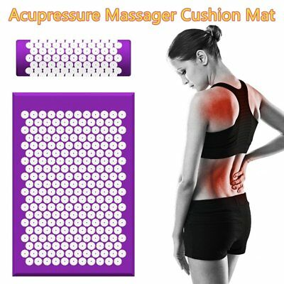 Acupressure Body Massager Mat and Pillow Set for Stress/Pain/Tension Relief F