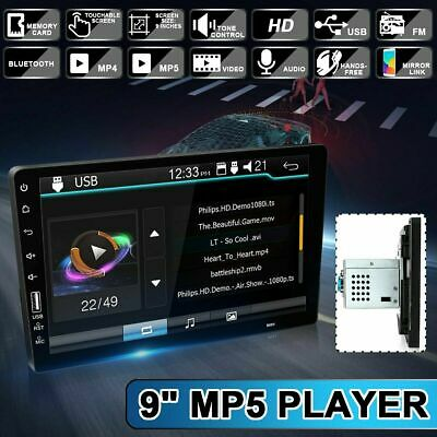 """Single 1 Din 9"""" Car FM/USB/AUX MP5 Player Touch Screen Stereo Radio Bluetooth"""
