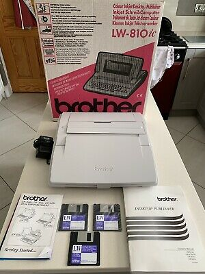 Brother Desktop Publisher - LW-810ic Word Processor - Boxed Discs & Instrutions