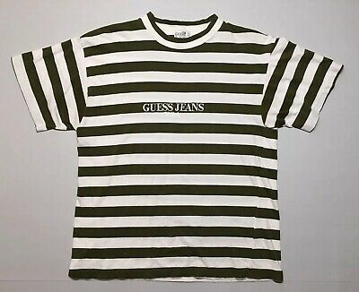 2eb4d58b5b00 VTG 90s Guess Jeans USA Striped T Shirt Georges Marciano Stripe Tee OG Size  L