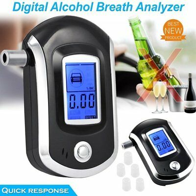 LCD Police Digital Breath Alcohol Analyzer Tester Breathalyzer Audiable cI