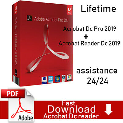 ADOBE Acrobat PRO DC & ADOBE Reader DC 2019 LIFETIME PREACTIVATED all Language
