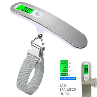 50KG Portable Digital Travel Handheld Luggage Weighing Scales Suitcase Bag New