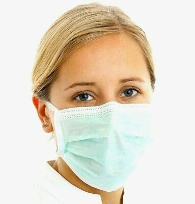 Medical Disposable Surgical Fase Mask Ear Loops Flu Mouth Cover 10/30/50