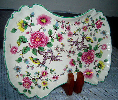 Pickle Dish by James Kent (England) in Chinese Rose