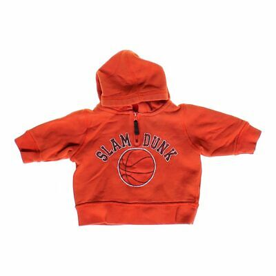 """The Children's Place Baby Boys """"Slam Dunk"""" Hoodie, size 6 mo,  orange,  cotton"""