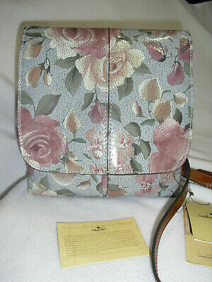 Patricia Nash 2019 Crackled Rose Garden Granada Crossbody Purse Handbag NWT $189