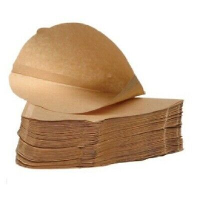 Unbleached COFFEE FILTER PAPERS Cones 1-4 Cups Size 4 Espresso