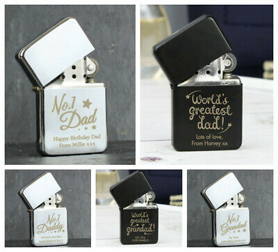 Personalised Lighters Birthday Fathers Day Gifts Present Ideas For Daddy Grandpa