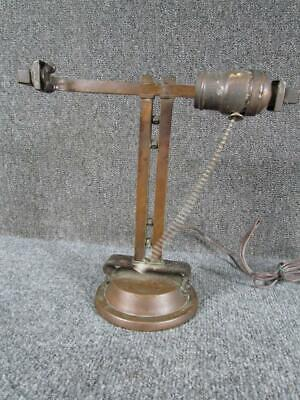 ANTIQUE 1920s HANDEL CALIFORNIA MISSION ARTS & CRAFTS COPPER DESK LAMP