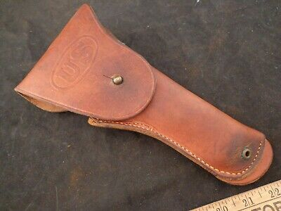 Rare Harpham Bros. Early Ww2  Us M1916 Leather Holster For Colt 45 1911  1911A1