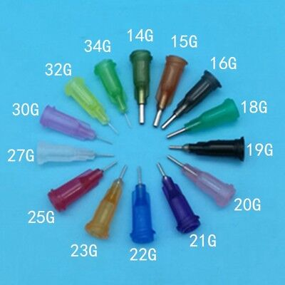 Dispensing screw Needles Tip for Liquid Dispenser Syringe 14GA15GA34GA Ga VT22