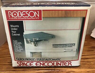Vtg Robeson Quick Pierce Fully Automatic Space Saving Undercounter Can Opener