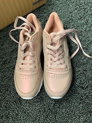 Leather Classic Ladies 4 Pearlized Trainers Reebok Uk Rose Eur Pink 0nO8wkP