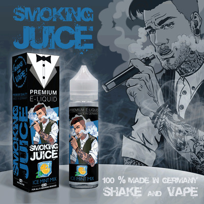 Smoking Juice Ice Minze Mix e Liquid 50 ml e Zigaretten - Ohne Nikotin Liquid