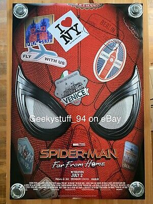 Spider-Man Far From Home DS Theatrical Movie Poster 27x40