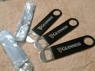 "Guinness Draught 7"" Speed Wrench Style Bottle Opener Rubber Handle SET of 5"