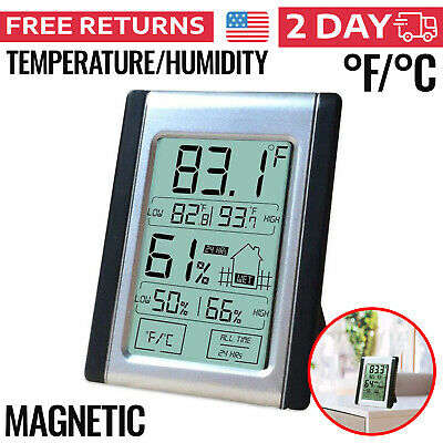 Hygrometer Humidity Meter Gauge Monitor Sensor Indoor Digital Reader Checker