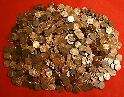 1984-D LINCOLN MEMORIAL CENT ROLLS 10 Rolls *500 Circulated Coins*