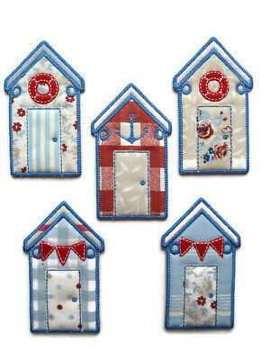 Handmade BEACH HUT BUNTING / Garland NAUTICAL