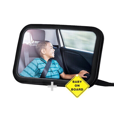 Large Car Baby mirror Rear view Child Back Seat Car Safety Mirror headrest set