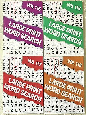 graphic about Large Printable Word Search called 4 Enormous PRINT Phrase Look Puzzles E book Ton Phrase-Discover Online games Bendon Vol 115-118