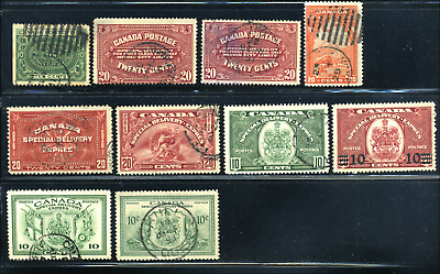 Canada #E1//E11 used F to XF 1898-1946 Special Delivery Issue CV$91.50
