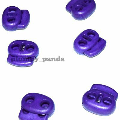 "Purple OVAL Cordlock ( Hole = 3/16"") Cord Locks Toggle Barrel Spring Stopper End"