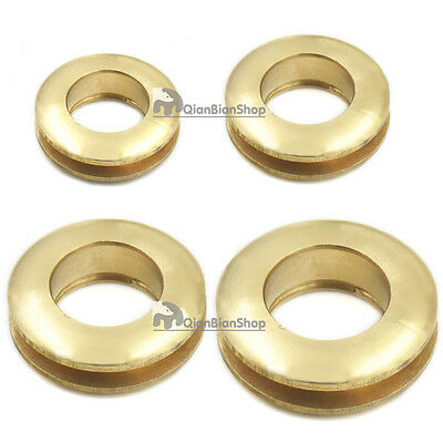 Brass 13 16 20 28mm Grommet Eyelet Buckle Canvas Clothes Leather Self Backing