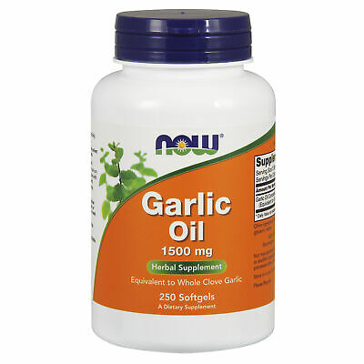 Garlic Oil Capsules - Concentrated Oil - High Strength - 1500mg x250 Softgels